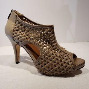 Miss Roberta Distressed Italian Leather Booties 10